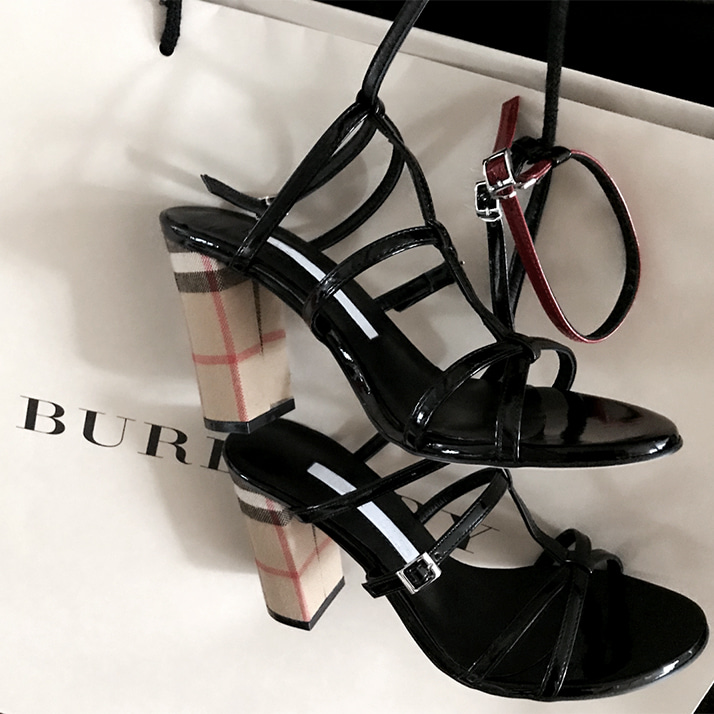 burberry strap sandals